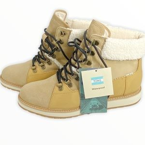 TOMS Mesa Waterproof Tan Suede Leather Ankle Boots